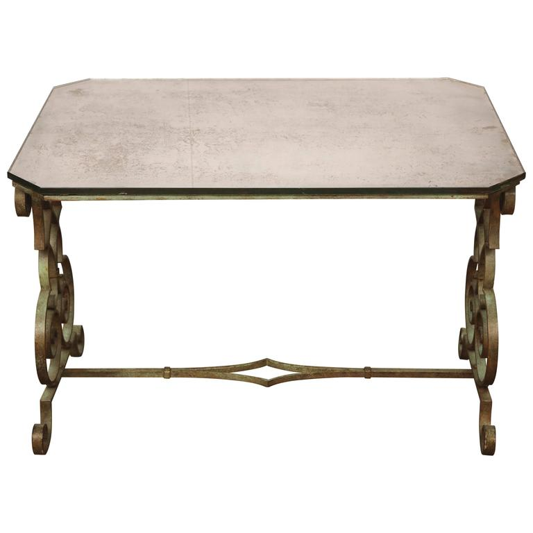 Verdigris Side Table For Sale