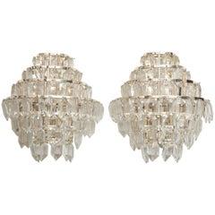 Bakalowits Regency Style Austrian Crystal Sconces