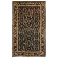 Antique India Agra Palace Size Rug with Old World Style
