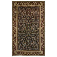 Antique India Agra with Emerald Field in Traditional Modern Style
