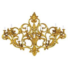 Large Wall Sconce Gilt Louis XV Style Light Decoration