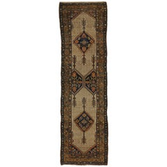 Camel Hair Antique Persian Malayer Hallway Runner with Warm, Rustic Style