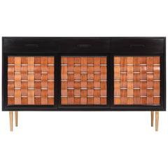 Edward Wormley Woven Front Credenza