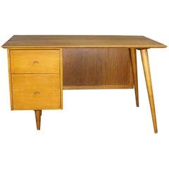 Paul McCobb Planner Group Desk with Cane Modesty Panel, Mid-Century Modern