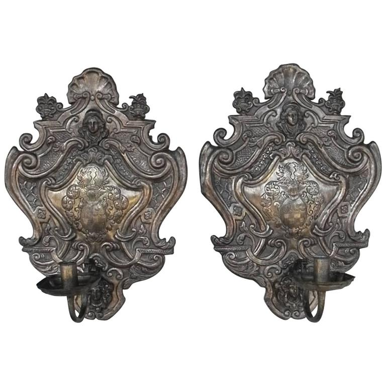 Pair of Antique French Sconces For Sale