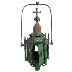 18th Century Green French Lantern