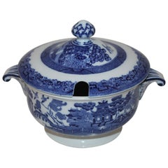 19th Century Blue Willow Serving Dish