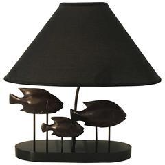 "French Modern ""School of Fish"" Lamp"