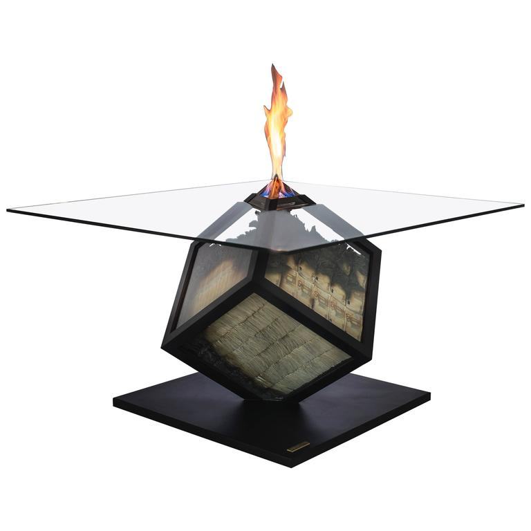 """Too Much"", Unique Fire Table, Amarist For Sale"