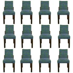 Set of Twelve Dining Room Chairs by Jacques Adnet