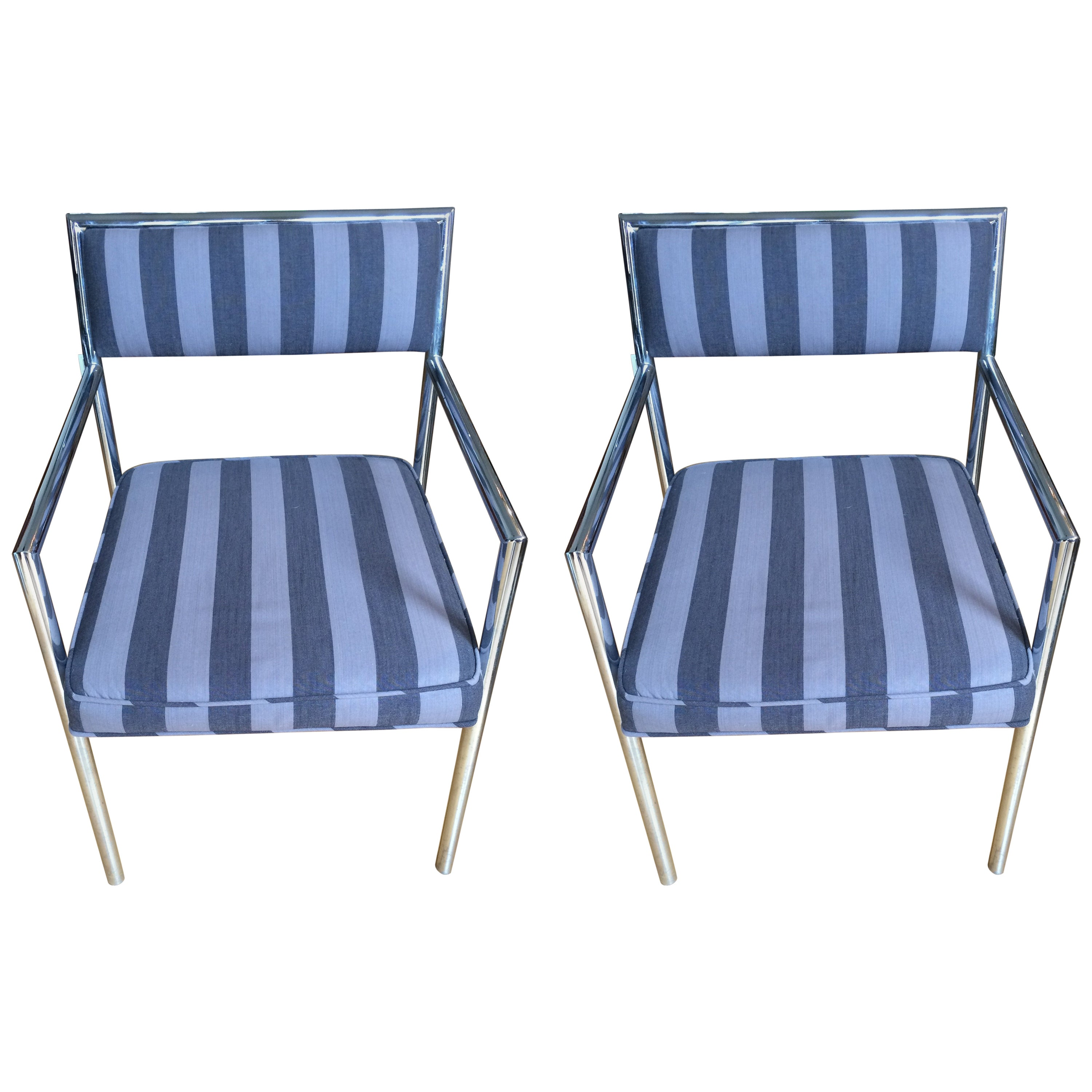 Cool Pair of Chrome DIA Armchairs