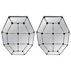 Elegant Pair of Vintage Octagonal Mirrors
