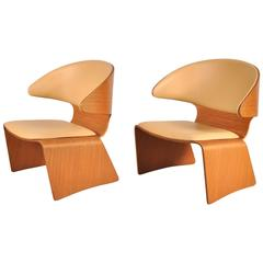 Pair of Bikini Chairs by Hans Olsen for Frem Rojle, Denmark, circa 1960