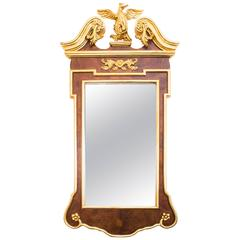 Elegant Georgian Style Carved Giltwood Mirror