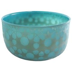 Ocean Green Blown Glass Bowl by Sabine Lintzen