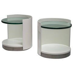 Pair of Nightstands by Gianni Moscatelli for Formanova