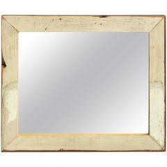 Alleywood Studios Repurposed White Wash Wood Mirror