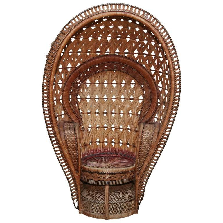 "Quintessential Anglo-Indian ""Peacock"" Chair"