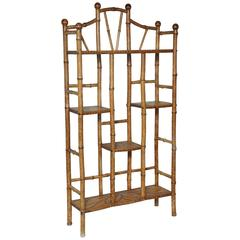 Superb 19th Century English Bamboo Etagere