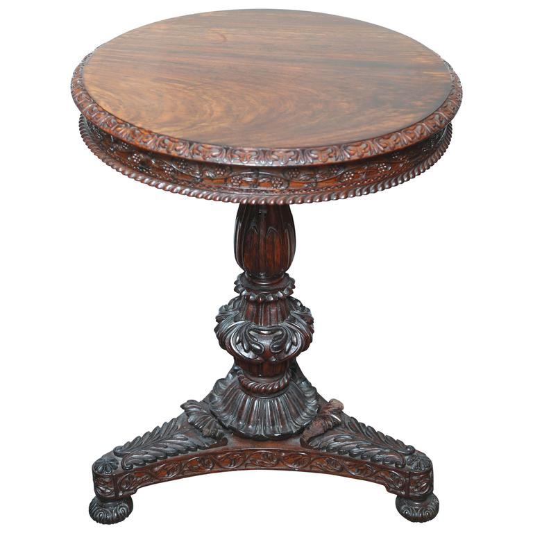 Superb British Colonial Ceylonese Tilt-Top Table For Sale