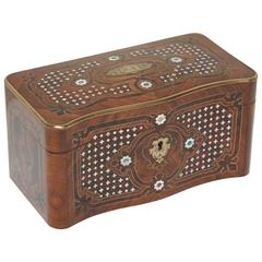 Superb Napoleon III Inlaid Tea Caddy
