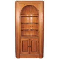 Edwardian Period Early 20th Century Pine Corner Cupboard
