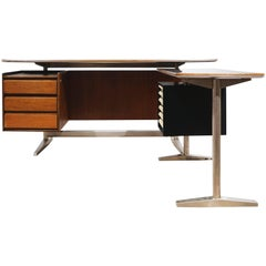 Desk by Gio Ponti & Alberto Rosselli, Rima Padova, Italy, circa 1955