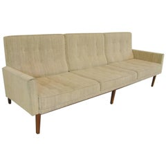 "Early Florence Knoll Walnut ""Floating"" Frame Sofa, Model 57W"