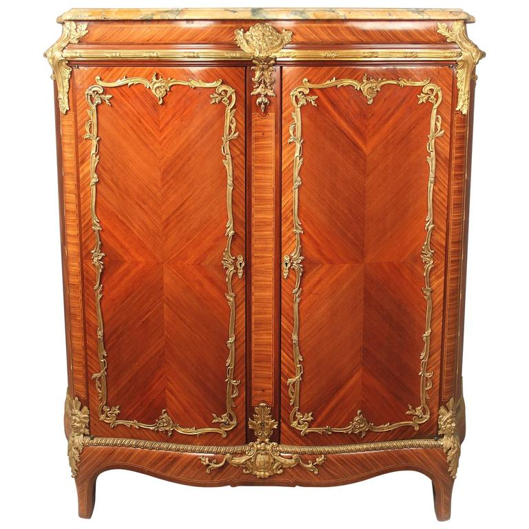 Fine Late 19th Century Gilt Bronze-Mounted Cabinet For Sale