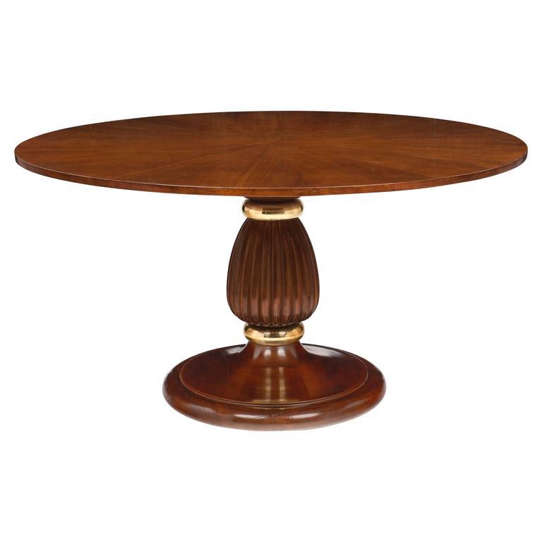 Mid-Century Italian Walnut Table Style of Paolo Buffa