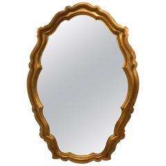 Hollywood Regency Labarge Giltwood Mirror