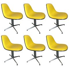 Set of Six La Fonda Chairs by Charles and Ray Eames Herman Miller