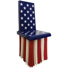 "Maltina Chair ""Stars and Stripes"" Edition, Unique Piece Made, Made in Italy"