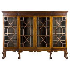 Large Antique Scottish Edwardian Mahogany Four-Door Bookcase, Display, Chin
