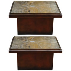 Pair of Low Tables by Georges Matthias at cost price.