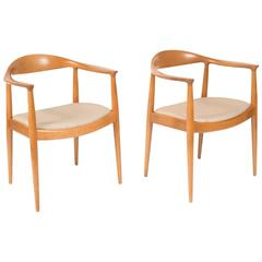 "Pair of Hans J. Wegner ""the Chair"" for Johannes Hansen, Denmark"