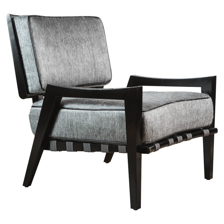 Paul Marra Low Lounge Chair in Black Lacquer 1