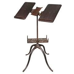 Vintage Antique Ornate Cast Iron Adjustable Bible, Dictionary, Book Stand, Table