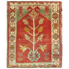 Antique Oushak Prayer Rug