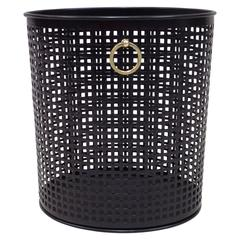 French Modern Neoclassical Waste Basket Attributed to Jacques Adnet, 1950