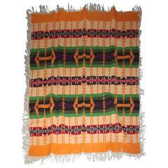 Rare Pendleton/Cayuse Indian Design Blanket, Dated 1909