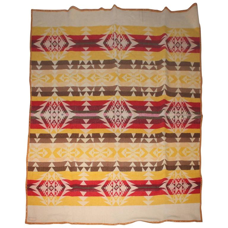 Pendleton Cayuse Indian Blanket Dated 1909 For Sale At 1stdibs