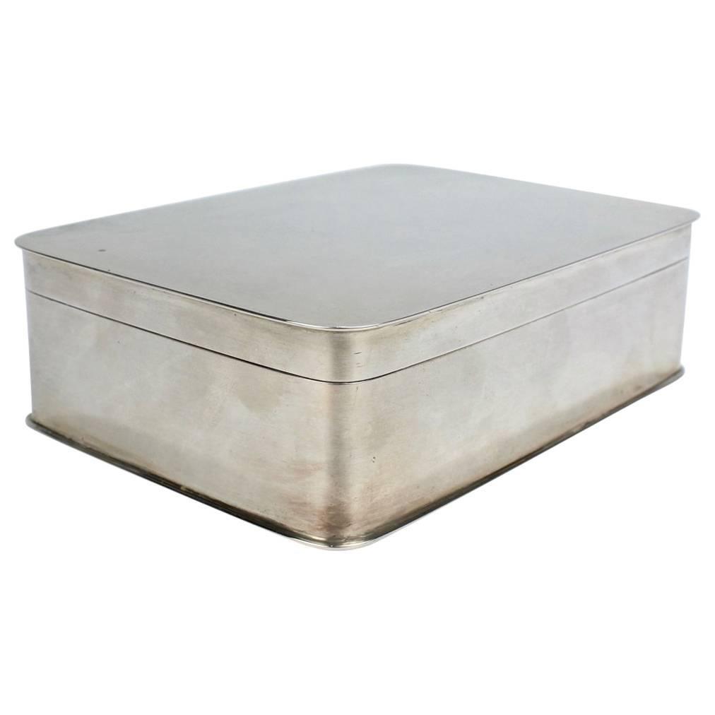 Art Deco German 800 Silver Dresser Box by Körner & Proll Silversmiths of Berlin