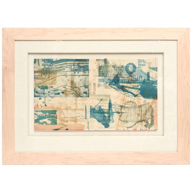 Robert Rauschenberg Color Lithograph Miami Herald Custom Framed /SALE