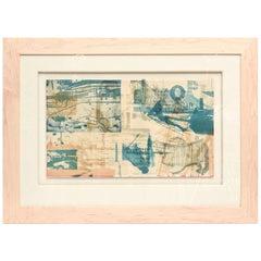 Robert Rauschenberg Color Lithograph Miami Herald Custom Framed / SUMMER SALE
