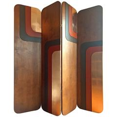 """""""Groove Is in the Heart"""" Four Panel Decorative Screen by Londubh Studio"""