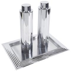 Norman Bel Geddes for Revere, Manhattan Cocktail Shakers and Tray
