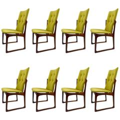 Set of Eight Rosewood Dining Chairs by Art Furn Two-Arm Six Side Chairs