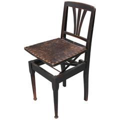 """Dutch Early 20th Century """"Beethoven"""" Adjustable Piano Chair"""