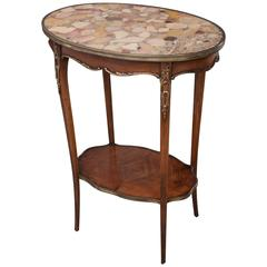 French 19th Century Louis XV Marble-Top Oval Table